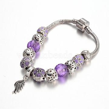 MediumPurple Rhinestone Bracelets