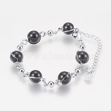 Black Glass Bracelets