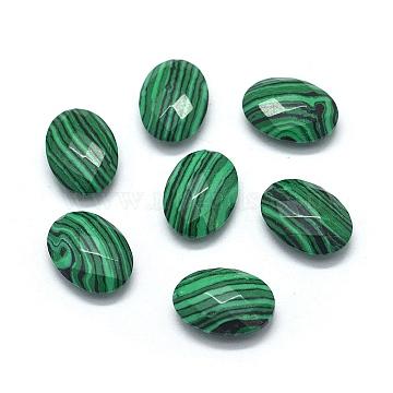 18mm Oval Malachite Beads