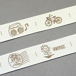 Cartoon Printed Cotton Ribbon, Camel, 3/4inch(20mm); about 20yards/roll(18.28m/roll)(OCOR-S025-06)