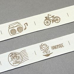"""Ruban de coton imprimé de sessin animé, chameau, 3/4"""" (20 mm); environ 20yards / rouleau (18.28m / rouleau)(OCOR-S025-06)"""