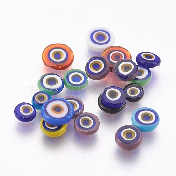 3mm Mixed Color Flat Round Lampwork Cabochons
