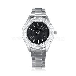 Валентина для него нержавеющая сталь горный хрусталь бриллиантами дамы унисекс кварцевые часы, 63 мм; голова часы: 42.5x49x12.5 мм; лицо часов: 31x31 мм(WACH-N004-01A)