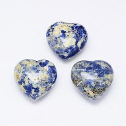 натуральные синие пятна яшмы, сердце, нет дыр / незаземленный драгоценный камень, окрашенный, 38x40x22 mm(G-K177-12)