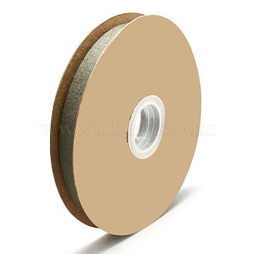 Wool Fabric Ribbon, DarkKhaki, 5/8inch(15mm); about 20yards/roll(18.2m)(SRIB-N003-13C)