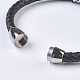 Men's Braided Leather Cord Bracelets(BJEW-P194-02)-2