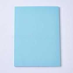 Gravure bricolage timbre en caoutchouc sculpté à la main, brique en caoutchouc à la main, rectangle, bleu ciel, 150x200x7mm(DIY-WH0116-06D)