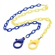 Personalized Two Tone ABS Plastic Cable Chain Necklaces(NJEW-JN02825-05)-1