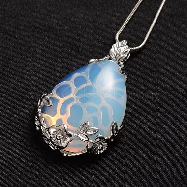 Opalite Pendant Necklaces(NJEW-JN01332-01)-2