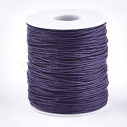 Waxed Cotton Thread Cords, MediumPurple, 1.5mm; about 100yards/roll