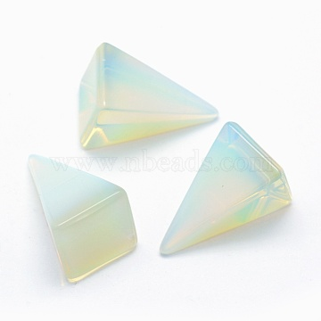 Opalite Beads, Cone, Undrilled/No Hole Beads, 25x14x14.5mm(G-E490-D14)
