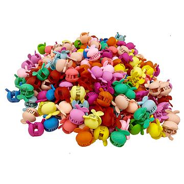 Mini Hair Claws Clip, Hair Pin, Hair Bangs for Little Girls, Cherry Shape, Mixed Color, 25x20mm(OHAR-R280-002)