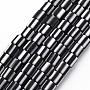 Black Column Polymer Clay Beads(CLAY-T001-B27)