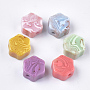 18mm Mixed Color Hexagon Resin Beads(X-RESI-S377-30)