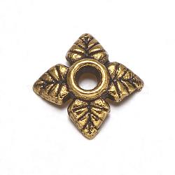 тибетские серебряные шарики крышки, свинца и кадмия, античные золотые, о 6 mm длиной, 6 mm шириной, 2 mm, отверстия: 2 mm(X-GAA0551)