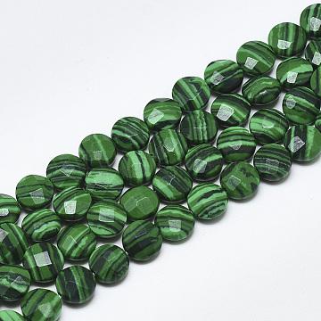 8mm Flat Round Malachite Beads
