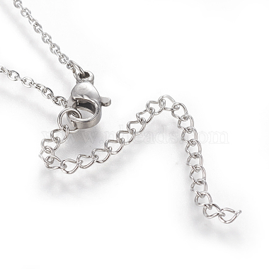 Brass Initial Pendant Necklaces(NJEW-I230-24P-I)-2
