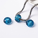 Blue Large Hole Glass European Rondelle Beads(X-GDA007-66)-2