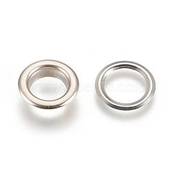 Accessoires d'œillet en laiton, pour la fabrication de sacs, plat rond, platine, 13x3.5mm, trou: 8mm; axe: 8mm; pad: 12x0.3mm(X-KK-WH0017-01P)