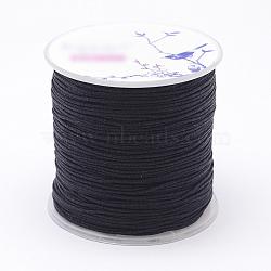 Nylon Threads, Black, 1mm, about 109.3yards/roll(100m/roll)(NWIR-N004-03O-1mm)