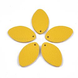 pendentifs environnementaux de peau de vache, ovale, or, 28.5x17x1.5 mm, trou: 1.5 mm(FIND-T045-26A-07)