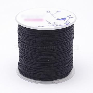 Nylon Threads, Black, 1mm; about 109.3yards/roll(100m/roll)(NWIR-N004-03O-1mm)