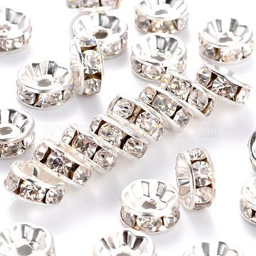 8mm Rondelle Brass + Rhinestone Spacer Beads