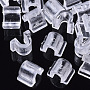 Clear Plastic Hair Findings(FIND-T064-004A-01)
