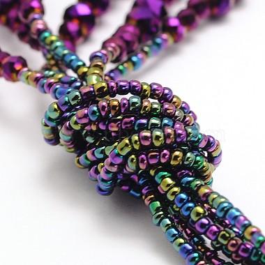 Glass Bead Lariat Necklaces(X-NJEW-O059-04F)-3