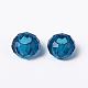 Blue Large Hole Glass European Rondelle Beads(X-GDA007-66)-3
