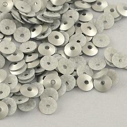 Perles de paillette en plastique en forme de cône, perles de paillettes, gainsboro, 4mm, trou: 1 mm; environ 240000 pcs / 1000 g(PVC-R002-4mm-HF3201)