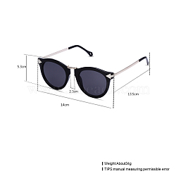 Trendy Sunglasses, Plastic Frames and Resin Lenses, Gray, 14x5.3cm(SG-BB22135-2)