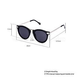 модные солнцезащитные очки, пластиковые рамы и смоляные линзы, серый, 14x5.3 cm(SG-BB22135-2)
