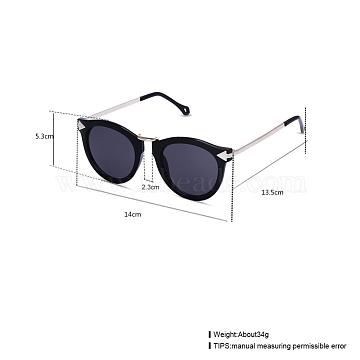 Trendy Sunglasses, Plastic Frames and Resin Lenses, Gray, 14x5.3cm(SG-BB22135-2)