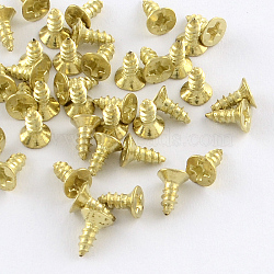 Железная фурнитура винта, золотые, 6x4 мм; контактный: 2 мм; о 4030шт / 500g(IFIN-R203-31G)
