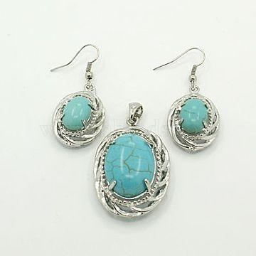 MediumTurquoise Synthetic Turquoise Earrings & Pendants