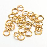 Golden Ring Iron Close but Unsoldered Jump Rings(JRG5mm)