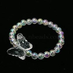 Bracelets pour enfants en acrylique transparent pour le cadeau de fête des enfants, clair, 45mm(BJEW-JB00613-03)
