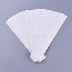 Cartes d'affichage en carton, utilisé pour les colliers, rectangle, blanc, 211x33.5x0.2mm(CDIS-WH0009-01)