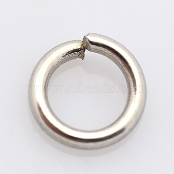 304 Stainless Steel Closed But not Soldered Jump Rings, Stainless Steel Color, 6x1.2mm; Inner Diameter: 3.6mm; abput 65pcs/10g(X-STAS-E067-08-6mm)