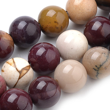 Natural Mookaite Beads Strands(X-G-S259-37-8mm)-1