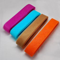 Mesh Ribbon, Plastic Net Thread Cord, Mixed Color, 120mm, 25yards/bundle(PNT-Q009-120mm-M)