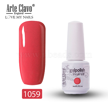 8ml Special Nail Gel, for Nail Art Stamping Print, Varnish Manicure Starter Kit, Tomato, Bottle: 25x66mm(MRMJ-P006-J011)