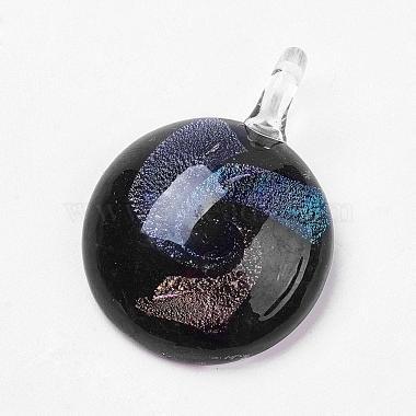 Handmade Dichroic Glass Pendants(DICH-X021-M-B)-3