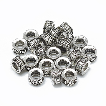 Antique Silver Column Thai Sterling Silver Beads