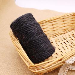 Corde de chanvre, chaîne de chanvre, ficelle de chanvre, pour la fabrication de bijoux, noir, 3 mm; environ 50 m/rouleau(OCOR-L039-C05)