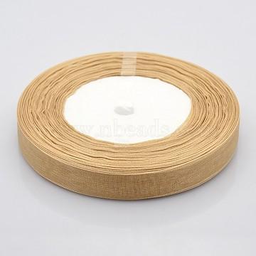 1Roll 1/2 inch Tan Organza Ribbon, 1/2 inch(12mm), 50yards/roll(45.72m/roll)(X-VC012-60)