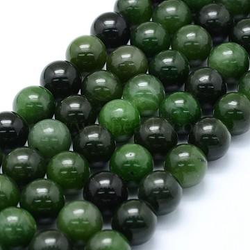 12mm Round Xiuyan Jade Beads