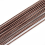 Iron Wire,Floral Wire,for Florist Flower Arrangement,Bouquet Stem Warpping and DIY Craft,Coconut Brown,18 Gauge,1mm,about 1-5/8 inches(40cm)/strand, about 100strand/bag