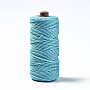 Cotton String Threads, Macrame Cord, Decorative String Threads, for DIY Crafts, Gift Wrapping and Jewelry Making, Sky Blue, 3mm, about 109.36 yards(100m)/roll